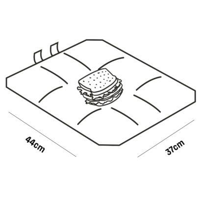 Foodwrap ONYA herbruikbaar boterhamzakje afmetingen