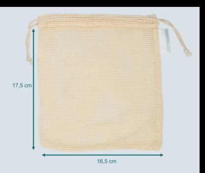 Wasbare zoogcompressen waszakje