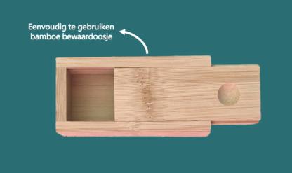 Herbruikbare Wattenstaafjes bamboe doosje