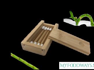 Herbruikbare Wattenstaafjes van Bamboe - 4 stuks
